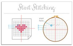 How to Cross Stitch, great tutoral by Kattuna