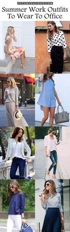 <3 Casual Summer Work Outfits To Wear To Office <3
