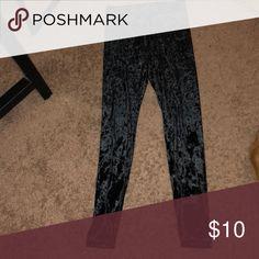 Velvet Leggings Black velvet leggings Pants Leggings