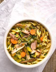 Pheasant noodle soup recipe, from Hunter Angler Gardener Cook. And yes, you can use turkey or chicken, too! Goose Recipes, Fish Recipes, Meat Recipes, Pasta Recipes, Cooking Recipes, Recipies, Dinner Recipes, Pheasant Stew, Foul Recipe