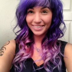 Purple to Pink Ombre' Hair