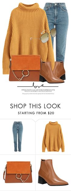 """""""Outfit Of The Day"""" by monmondefou ❤ liked on Polyvore featuring Topshop, Chloé and Gucci"""
