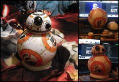 Bb8 Star Wars Droid by ZlaKalamarnica.deviantart.com on @DeviantArt  balls, craft, handmade, robot, bb8, acrylicpaint, droid, fanart, figure, starwars, bb8droid