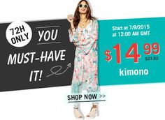 Test + Try =Results : LUCLUC - 72 Hour Kimono Sale (Starts 7/9/2015)