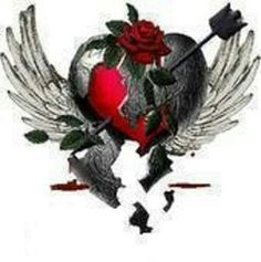 Broken Heart Photo: This Photo was uploaded by criminal_child. Find other Broken Heart pictures and photos or upload your own with Photobucket free imag. Broken Heart Pictures, Broken Heart Art, Broken Heart Tattoo, Shattered Heart, Mending A Broken Heart, Broken Wings, Heart Pics, 1 Tattoo, Body Art Tattoos