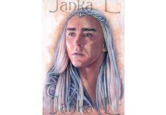 Original illustration  Portrait of The King elven by JankaLart