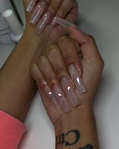 Likes, 208 Comments - Desteny Jones Clear Acrylic Nails, Bling Acrylic Nails, Long Square Acrylic Nails, Claw Nails, Aycrlic Nails, Easy Nails, Coffin Nails, Exotic Nails, Nails Only