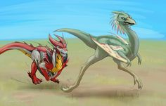 Dragon!KnockOut chases the swift prey with the manic energy of a dog let loose off the leash. XD