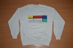 Vintage 90s ADIDAS Logo Made in USA LS Training Windbreaker Jacket Sweater by OldSchoolZone on Etsy
