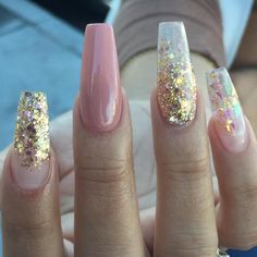 Dusty pink nude stiletto nails with gold features. #nails #nailsart by thenailbarsydney http://ift.tt/1NRMbNv
