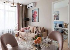 Kis hálószoba világoszöld falszínnel, tolóajtós gardróbszekrénnyel - Lakberendezés trendMagazin Black White Pink, Small Living Rooms, Zara Home, Ikea, Couch, Curtains, Interior Design, Furniture, Home Decor