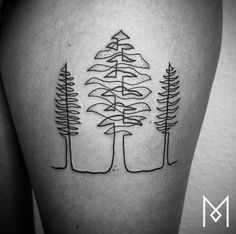 One Continuous Line Tattoos By Iranian-German Artist Mo Ganji