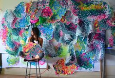Originally trained as a printmaker, American artist Crystal Wager translates her organic and biomorphic designs into sprawling site-specific installations and colourful, bursting sculptures. Wagner's process...