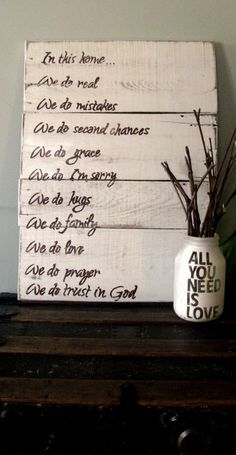 In This Home Sign Decor by LilRedBrickHouse on Etsy, $60.00