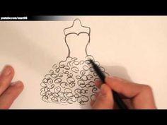 Chiffon Dress Fashion Sketch | @SarahAlAssiri - YouTube