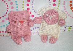 Elf  ♥'s Dwarf Crochet: Square Critters for New Baby Girl
