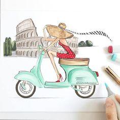 When in Rome Fashion Illustration Print