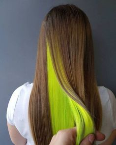 16 Perfect Layered Hair Color Ideas 2018 5 Perfect Silver Tone With Black Roots Silky Hair Colors for Summer Hair Color Blue, Hair Dye Colors, Cool Hair Color, Blue Hair, Hidden Hair Color, Weird Hair Colors, Peekaboo Hair Colors, Neon Green Hair, Green Nails