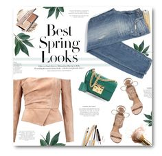 """""""***"""" by len-chica ❤ liked on Polyvore featuring H&M, Balmain, Paige Denim, Gianvito Rossi, Gucci and Dolce&Gabbana"""
