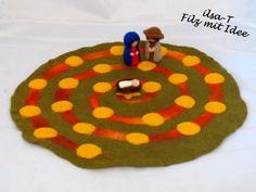 Adventsspirale, gefilzt von ilsa-T - Filz mit Idee auf DaWanda.com