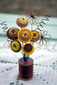 40 Cool Button Craft Projects for 2016 - Bored Art