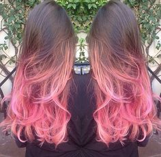 Brown to pink ombré