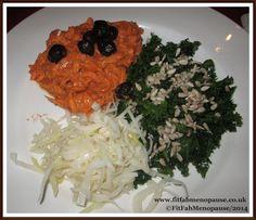 Uk Recipes, Raw Food Recipes, Sweet Potato Noodles, Kale Salad, Sunflower Seeds, Evening Meals, Sauerkraut, Tomato Sauce, Free Food