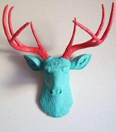 Cabezas de animales en resina en el color que quieras.