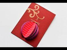 How to Make - Christmas Card Bauble - Step by Step DIY | Kartka Świąteczna Bombka - YouTube