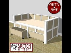 Chief's Shop Sketch of the Day: Day Bed with Storage - YouTube