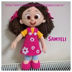 Niloya Amigurumi Free Pattern Doll Oyuncak Bebek : Samyelinin ?rg?leri: N?LOYA,Oynar?z Doya Doya. Gehaakte ...