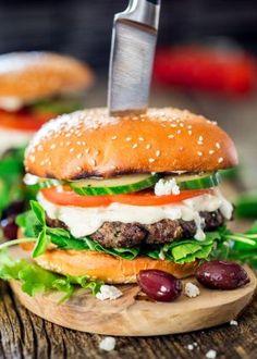 Greek Lamb Burgers - Jo Cooks