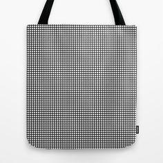 Black On White Grid - Pattern Tote Bag