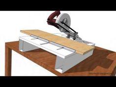 Cómo hacer una ingletadora casera, con una sierra circular portátil (1).. - YouTube   varios   Pinterest