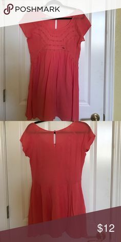 Roxy coral dress! Never worn coral Roxy dress! Roxy Dresses