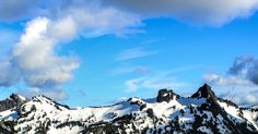 White and Black Snowy Mountain Under Blue Cloudy Sky · Free Stock Photo