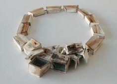 Kathryn Yeats 'Untitled, neckpiece' (Matai, string, paint, found steel and rust)