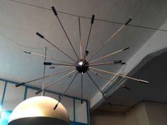 grande lampadario sputnik anni 50, large sputnik chandelier