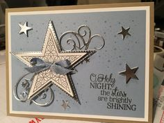 Stampin' Up! So Many Stars Seasons Greetings Card - Her Crochet Christmas Cards 2018, Christmas Card Crafts, Homemade Christmas Cards, Handmade Christmas, Homemade Cards, Holiday Cards, Christmas Star, Stampinup Christmas Cards, Stampin Up Weihnachten