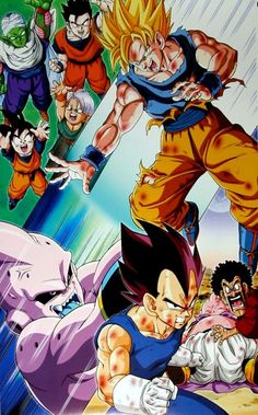 "betaruga: ""code-9045yx: ""FINAL FIGHT DRAGON BALL Z POSTER 1994/1995 CALENDAR (Dec-Jan) Edited by : Ensky/Toei Animation/Studio Bird/Shueisha group "" Mr Satan running his hand over Fat Buu's dick… it..."
