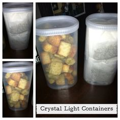 """Great way to reuse Crystal Light containers... Maybe divide food into """"100 calorie"""" servings!!!"""