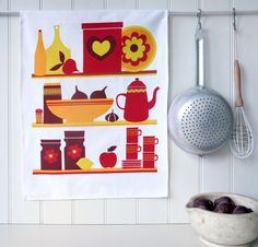 Kitchen Cupboard Cotton Tea Towel In Gift Box Price - £8.95  http://www.dotcomgiftshop.com/boxed-tea-towel-kitchen-cupboard