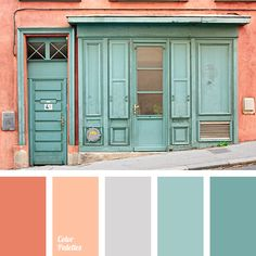 The combination of colours in this palette is perfect. Warm shades of brick red harmonises perfectly with the equally warm turquoise shades. The palette is
