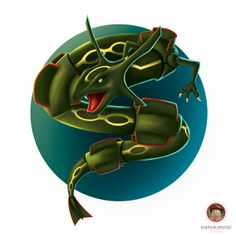Rayquaza - Fan art by Yodver Aponte, via Behance