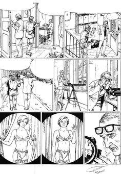 Planche originale de bande dessinée, galerie Napoléon  : LE TELESCOPE - Planche originale 4 du TELESCOPE par Paul TENG - 4