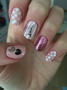 New Trendy Nail Art Designs For Long Nails For Girls - Page 2 of 79 - NailTrendLife Paris Nail Art, Paris Nails, Trendy Nail Art, Stylish Nails, Popular Nail Designs, Nail Art Designs, Nails For Kids, Birthday Nails, Nagel Gel