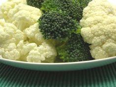 Steamed Broccoli and Cauliflower