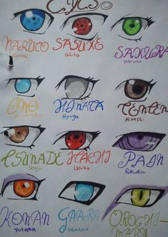 Naruto shippuuden discovered by neele on We Heart It Naruto Sketch Drawing, Naruto Drawings, Anime Drawings Sketches, Cool Art Drawings, Easy Anime Eyes, Naruto Eyes, Naruto Uzumaki Art, Doodle Art Journals, Cute Anime Character