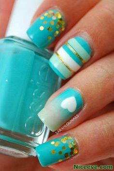 10 Pretty Nail Designs You Have to Try for this Week 2015 - Fashion Te