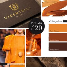 Pantone Colors: Dark Cheddar, Sugar Almond, Rockey Road -- Follow Paper Couture Studio on Instagram and Facebook! @papercouturestudio -- January Colors, Latest Colour, Couture, Pantone Color, Color Trends, Cheddar, Spectrum, Almond, Palette